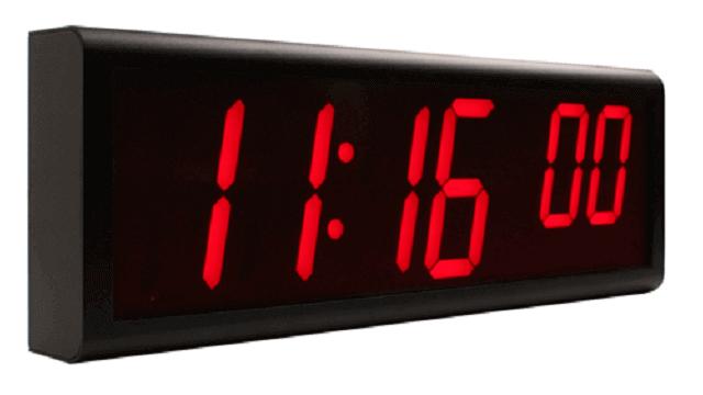 Horloge murale numérique Ethernet NTP